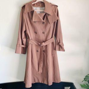 Vintage Camel Brown Trench Rain Coat Size 18